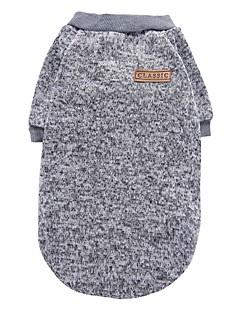 Katze Hund Mäntel T-shirt Pullover Hundekleidung Party Lässig/Alltäglich warm halten Sport Massiv Grau