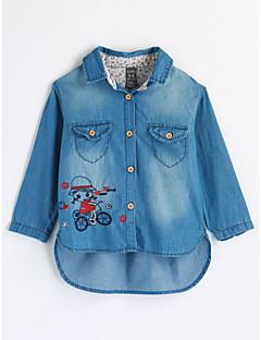 Mädchen Hemd Bestickt Baumwolle Herbst Lange Ärmel