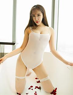 여성용 울트라 섹시 테디 잠옷,섹시 솔리드 스판덱스