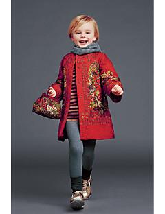 Genç Kız Polyester Çiçekli Sonbahar Uzun Kol Trençkot