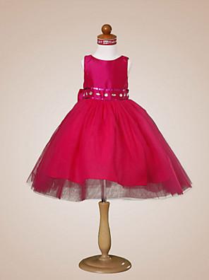 PEPPINA - שמלת נערת פרחים מ- טפטה ו- טול