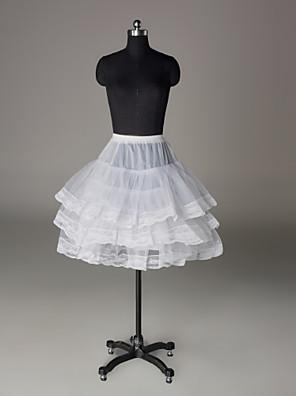 תחתונית  A- קו תחתוניות / סליפ שמלת נשף אורך- קצר 3 ניילון / רשתות בד טול לבן