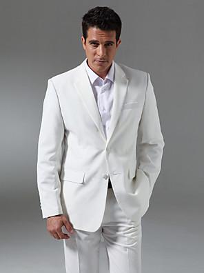 חליפות גזרה מחוייטת פתוח צר Single Breasted Two-button צמר ופוליאסטר מעורב חלק שני חלקיםשחור / אפור / כחול / ורוד / לבן / אפור בהיר /