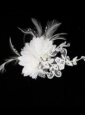 נשים סאטן / תחרה כיסוי ראש-חתונה / אירוע מיוחד קישוטי שיער