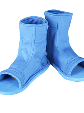 Sapatos de Cosplay Naruto Fantasias Anime Sapatos de Cosplay Branco / Preto / Azul Poliéster Unissexo