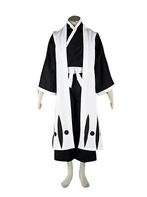 Inspirado por Fantasias Fantasias Anime Fantasias de Cosplay Ternos de Cosplay / Chimono Patchwork Branco Manga CompridaCapa de Kimono /