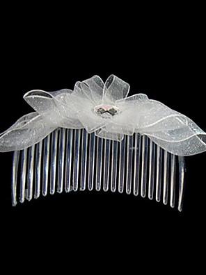 Women's Satin Headpiece-Wedding / Special Occasion / Casual / Outdoor Hair Combs Clear