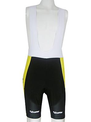KOOPLUS® Bermudas Bretelle Homens Moto Respirável / Secagem Rápida Calções Bibes / Shorts Poliéster Verão Ciclismo/Moto