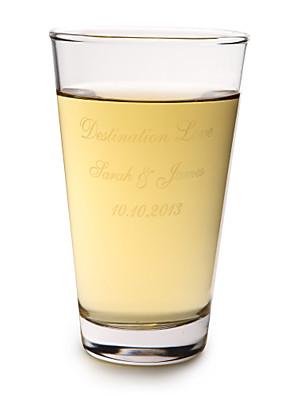 Par Gaver Piece / Set Glas og Krus Moderne Bryllup / Jubilæum Personaliseret Glas og Krus Gaveæske
