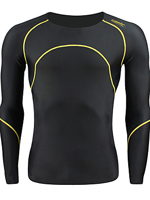 SANTIC® חולצת ג'רסי לרכיבה לגברים שרוול ארוך אופניים נושם / שמור על חום הגוף שכבות בסיס / טייץ רכיבה על אופניים / ג'רזי / צמרות ספנדקס