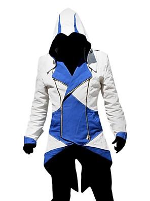 Inspirovaný Assassin's Creed Assassin Video Hra Cosplay kostýmy Cosplay šaty Patchwork Dlouhé rukávy Kabát