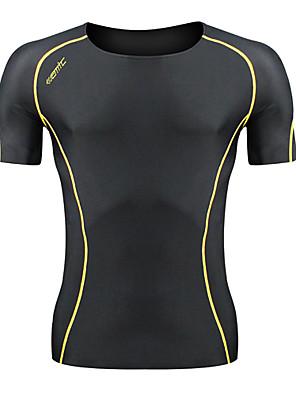 SANTIC® Segunda Pele para Ciclismo Homens Manga Curta Moto Respirável Camisa/Fietsshirt / camadas de base / Roupas de Compressão / Blusas