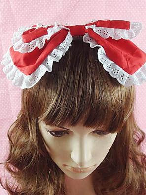 תכשיטים לוליטה מתוקה לבוש ראש נסיכות אדום / Black / ורוד / כחול לוליטה אביזרים אביזר לשיער סרט פרפר / אחיד ל נשים כותנה
