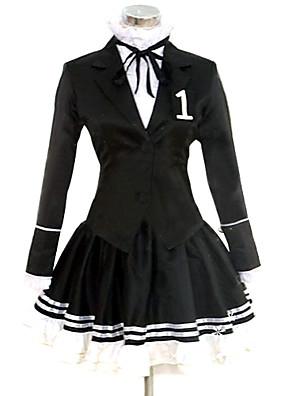 Inspirovaný Vocaloid Hatsune Miku Video Hra Cosplay kostýmy Cosplay šaty / Šaty Jednobarevné Czarny Dlouhé rukávyKabát / Tričko / Sukně /