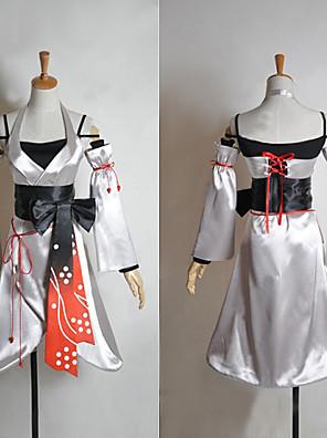 קיבל השראה מ Vocaloid Meiko וִידֵאוֹ מִשְׂחָק תחפושות קוספליי חליפות קוספליי / קימונו טלאים לבן בלי שרווליםשמלה / שרוולים / מחוך / חגורה