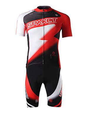SPAKCT® Camisa com Shorts para Ciclismo Homens Manga Curta MotoRespirável / Secagem Rápida / Resistente Raios Ultravioleta / Permeável á