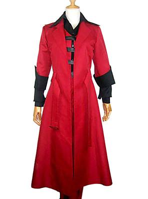 קיבל השראה מ Devil May Cry דנטה וִידֵאוֹ מִשְׂחָק תחפושות קוספליי חליפות קוספליי טלאים אדום שרוולים ארוכיםגלימה / וסט / מכנסיים / כפפות /