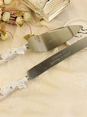 szolgáló készletek esküvői torta kés személyre pillangó stílus torta kiszolgálás meghatározott műgyanta fogantyú