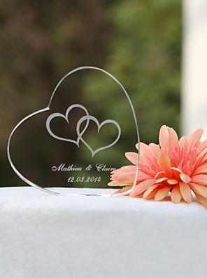Tortadísz Személyre szabott Szívek / Klasszikus pár Kristály Esküvő / Menyasszonyköszöntő / Évforduló Kerti témák / Klasszikus téma