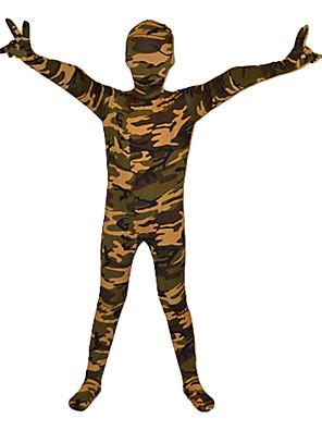 חליפות בדוגמת זנטאי Ninja Zentai תחפושות קוספליי ירוק דפוס /סרבל תינוקותבגד גוף / Zentai לייקרה ילד האלווין (ליל כל הקדושים) / חג המולד