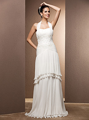 Lanting Bride® Tubinho Tamanhos Grandes / Pequeno Vestido de Noiva - Chique e Moderno / Glamouroso e Dramático / RecepçãoVestidos de
