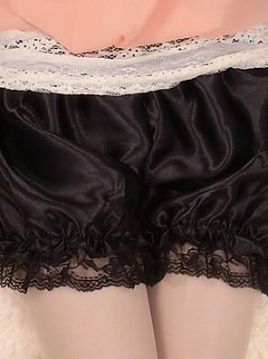 Kalhoty Gothic Lolita Lolita Cosplay Lolita šaty Černá Jednobarevné Lolita Lolita Šaty Pro Dámské Satén
