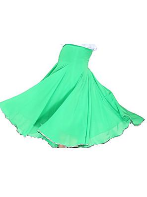 ריקודים סלוניים חצאיות בגדי ריקוד נשים אימון שיפון / סאטן טבעי
