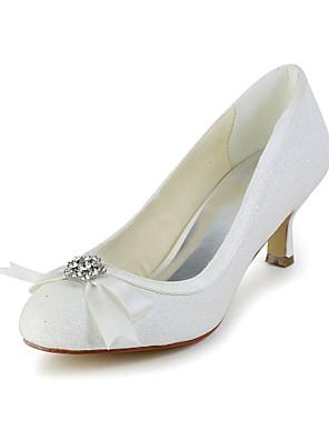 Nagy Szénsavas Glitter Kitten Heel szivattyúk Bowknot Esküvő / Különleges alkalom Shoes (több szín)