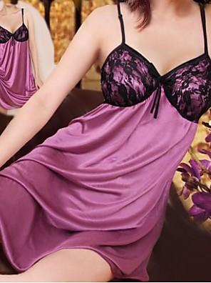 Black Lace Purple Dress Sexy Nachtwäsche