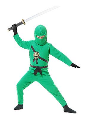 תחפושות קוספליי / תחפושת למסיבה חייל/לוחם / Ninja פסטיבל/חג תחפושות ליל כל הקדושים ירוק טלאיםמעיל / אפוד / מכנסיים / כיסוי ראש / כפפות /