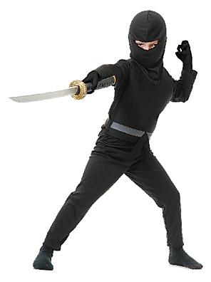 תחפושות קוספליי / תחפושת למסיבה חייל/לוחם / Ninja פסטיבל/חג תחפושות ליל כל הקדושים שחור אחיד עליון / מכנסיים / כפפות / חגורה / מסכה