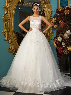 Lanting Bride® Plesové šaty Drobná / Nadměrné velikosti Svatební šaty - Elegantní & moderní / Elegantní & luxusní RetroExtra dlouhá