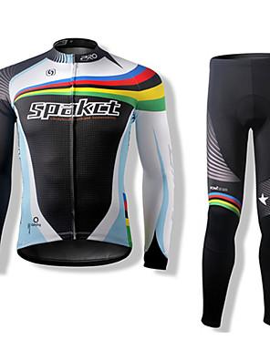 SPAKCT ultra tenký cyklistický  dres s dlouhými rukávy a čapáky,polyester a polyamid