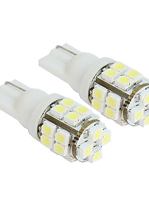 2stk 20-SMD T10 12V White Light LED udskiftning pærer