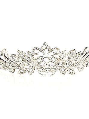 Mujer Diamantes Sintéticos / Aleación Celada-Boda / Ocasión especial Tiaras Plata