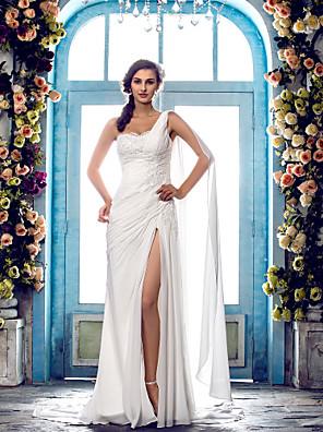 Lanting Bride® Tubinho Pequeno / Tamanhos Grandes Vestido de Noiva - Clássico e atemporal / Glamouroso e Dramático Cauda Escova Mula Manca