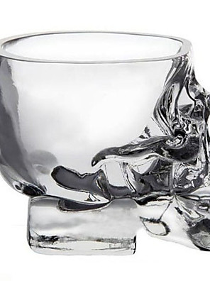 mini krystal kranium hoved cup vodka shot glas whisky drik ware til hjemmet bar