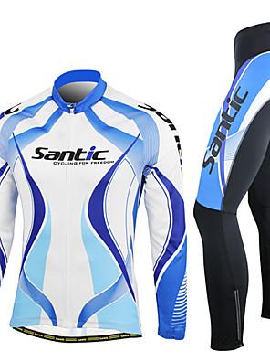 SANTIC® Calça com Camisa para Ciclismo Homens Manga Comprida Moto Respirável / Mantenha Quente / A Prova de Vento / VestívelConjuntos de