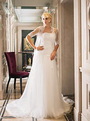 Lanting Bride® Pouzdrové Drobná / Nadměrné velikosti Svatební šaty - Elegantní & moderní / Okouzlující & dramatickéSvatební šaty s