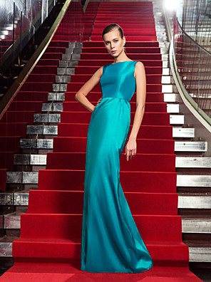 TS couture® 공식적인 저녁 / 군사 공 드레스 - 우아한 플러스 사이즈 / 아담 칼집 / 칼럼 보석 바닥 길이 태 피터