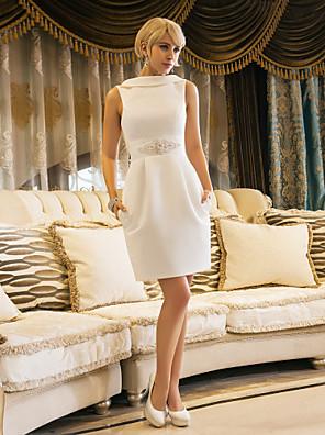 Lanting Bride® Tubinho Pequeno / Tamanhos Grandes Vestido de Noiva - Chique e Moderno / RecepçãoInspiração Vintage / Sem costas /