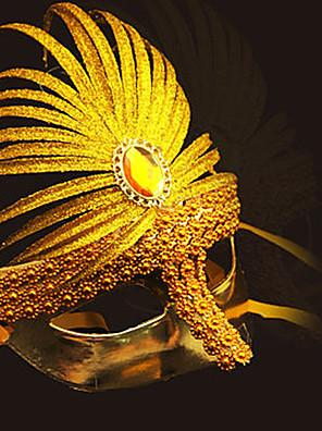 Masker Festival/Feestdagen Halloween Kostuums Gouden / Zilver / Blauw / Fuchsia Masker Halloween / Carnaval Unisex PVC / Kunst Edelstenen