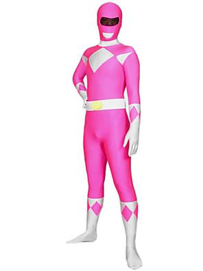 Unisex Power Ranger Pink Lycra & Spandex Full Body Zentai Suit