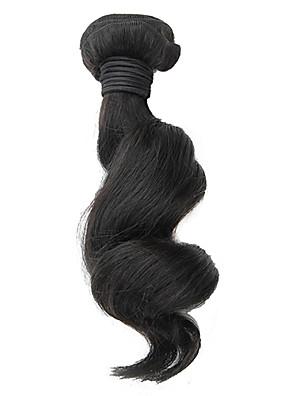 1pcs 18inch Preto Natural solto Aceno brasileiro Virgin cabelo Weave