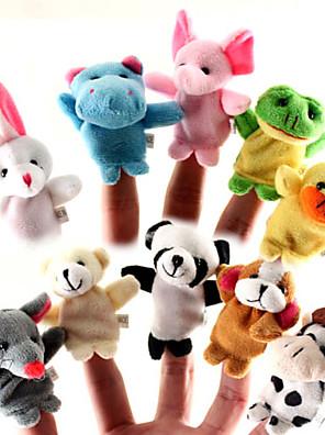 10 Pieces animaux en peluche marionnettes à doigt Set