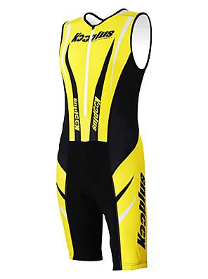 KOOPLUS® Macacão para Triathlon Mulheres / Homens / Unissexo Sem Mangas Moto Respirável / Secagem Rápida / Permeável á Humidade / Vestível
