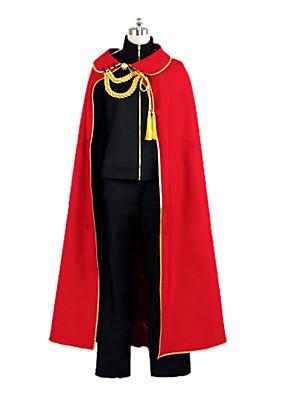 Inspirovaný Noragami yato Anime Cosplay kostýmy Cosplay šaty Patchwork Czarny / Czerwony Přehoz / Kabát / Kalhoty