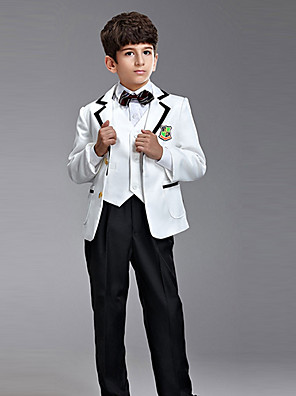 תערובת פוליאסטר / כותנה חליפה לנושא הטבעת - 6 חתיכות כולל ג'קט / חולצה / וסט / מכנסיים / עניבת פרפר / בריות
