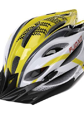 FJQXZ Unisex Venkovní PC + EPS 22 otvory žlutá + bílá Cyklistika Hlemets