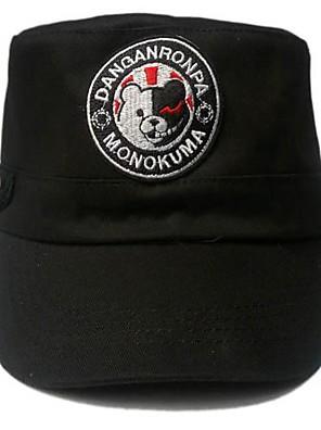 כובע קיבל השראה מ Dangan Ronpa Monokuma אנימה / משחקי וידאו אביזרי קוספליי כתרים / כובע שחור פוליאסטר/כותנה זכר / נקבה